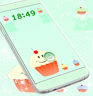 Cute Cupcakes Locker Theme - náhled