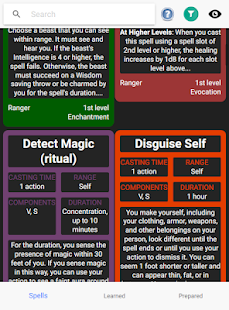 D&D Spell Cards – Free 5