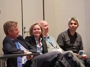 Photo: L-R: Prof Steve Jane, Prof Sharon Lewin, A/Prof David Curtis, A/Prof Mark Wright