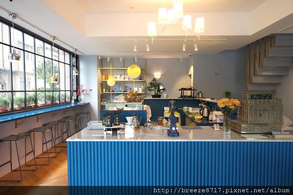 Glück │ 勾人的藍色美感與質感咖啡館