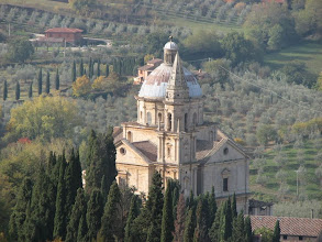 Photo: San Biagio church below Montepulciano