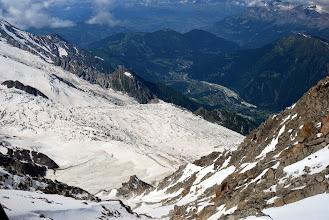 Photo: El glaciar de Bossons desde arriba. Foto Ch
