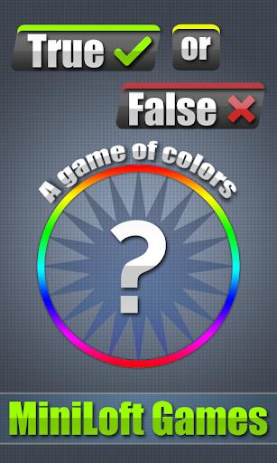 True or False Color Wheel