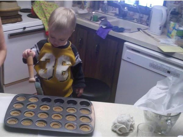 Bake at 350 degrees for 15 minutes  [i use stoneware].