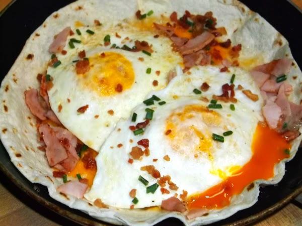 Over Easy Loaded Breakfast Tostada Recipe