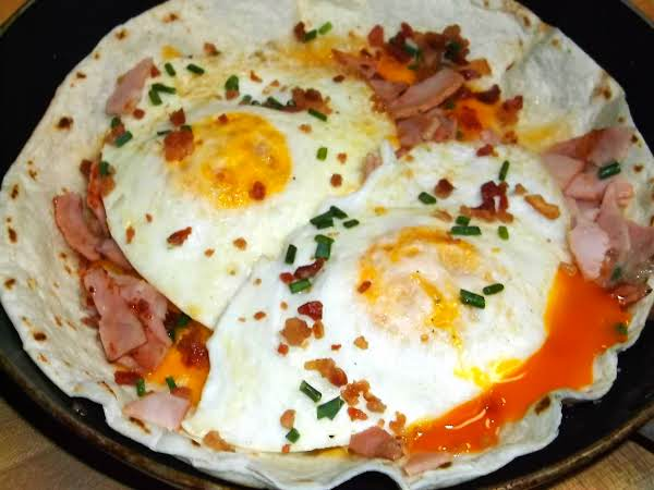 Over Easy Loaded Breakfast Tostada Recipe