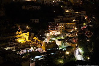 Photo: Night view from hotel, Positano