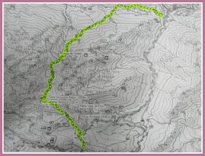 """Photo: Mapa facilitado por el G.M. """" El Trasgu Andayón """" de Xixón."""