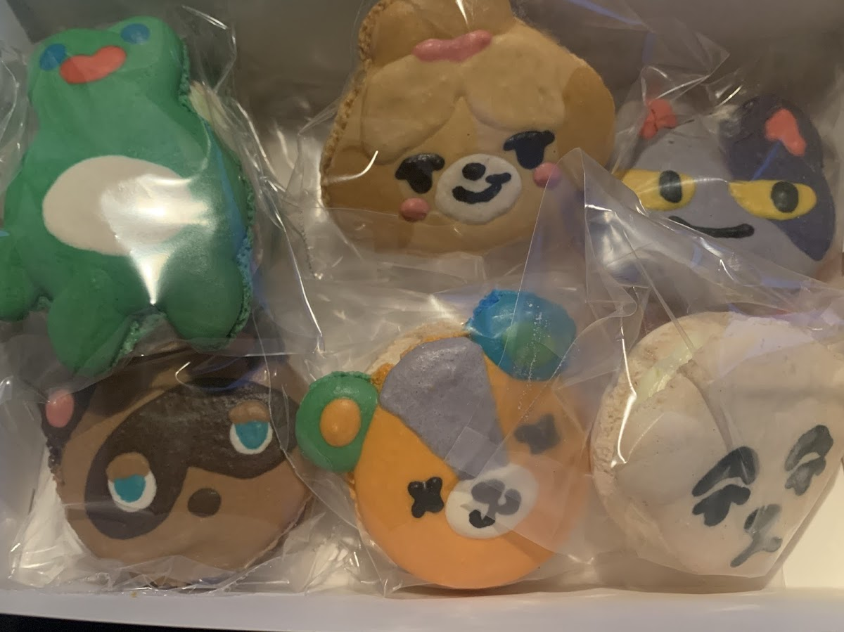 Animal crossing themed macaroons