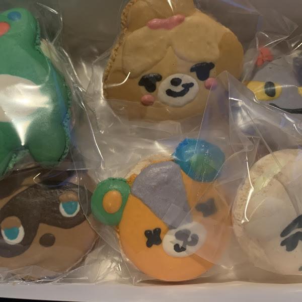 Animal crossing themed macaroons