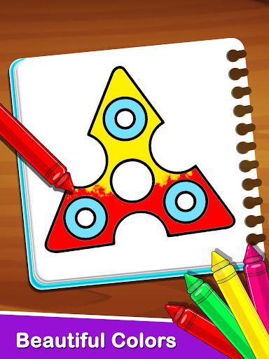 Fidget Spinner Coloring Book For Kids 1.0 screenshots 4