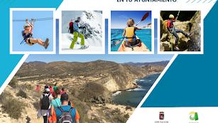 Cartel del Programa Multiaventura 2021 de la Diputación de Almería.