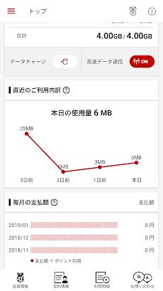 楽天モバイル SIMアプリ データ通信利用量がわかりやすい!のおすすめ画像2