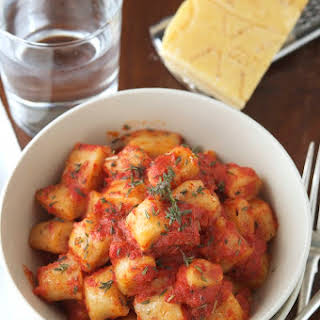 Whole Wheat Ricotta Gnocchi with Tomato and Fresh Herb Sauce.