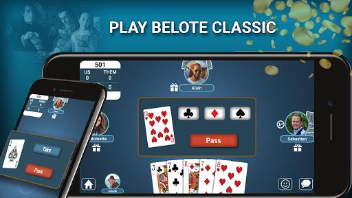 Belote Coinche Multiplayer 2.2.2 screenshots 1