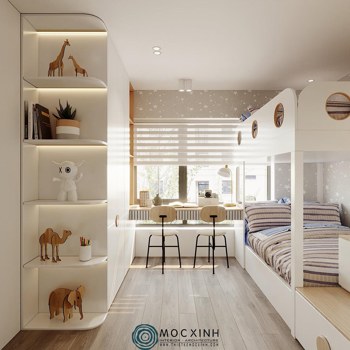 Cân đối không gian cho phòng ngủ trẻ em