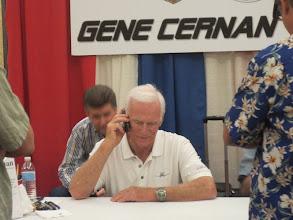 Photo: Gene Cernan talking to some guy's mother, LOL!