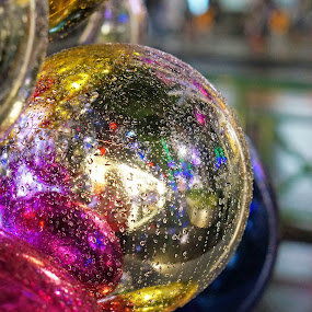 Colourful bubble by Alice Chia - Public Holidays Christmas ( bubble, colourful, blue, christmas, nights, round, pink, gold, light,  )