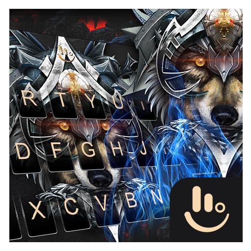 Cool Iron Wolf Keyboard Theme