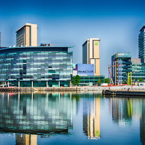 Salford quays by Jim Keating - Buildings & Architecture Office Buildings & Hotels ( quays, docklands, salford, water, manchester,  )