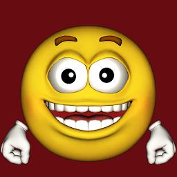 サイモンの笑みを浮かべて話す