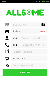 AllSome Parcel Track & Notify- screenshot thumbnail