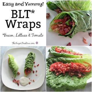 Easy BLT Lettuce Wraps.
