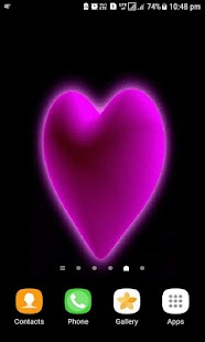 Purple Hearts Live Wallpaper - náhled