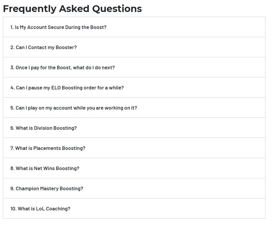 MyBoosting.GG FAQ