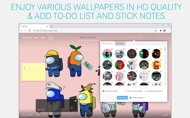 Among Us Skin Wallpaper HD Werewolf Boardgame New Tab