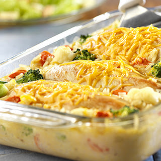 Cheesy Chicken & Rice Casserole.