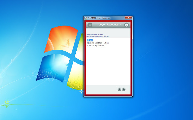 ConCERTO Logon Manager Extension