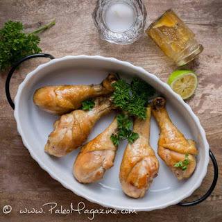 Paleo Chinese Tamari Honey Glazed Chicken Drumsticks Recipe [AIP, Paleo]
