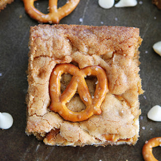 White Chocolate Pretzel Blondies Recipe