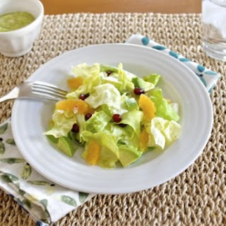 Butter Lettuce Citrus Salad with Avocado Shallot Dressing.