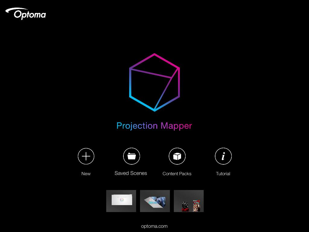 Optoma Projection Mapper- screenshot