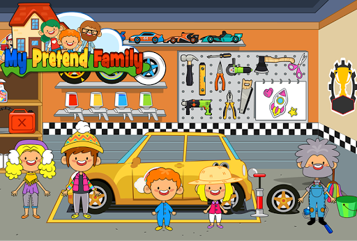 My Pretend Home & Family - Kids Play Town Games! android2mod screenshots 8