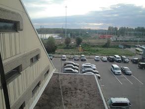 Photo: Hotelli Drusba, näkymä rautatieasemalle