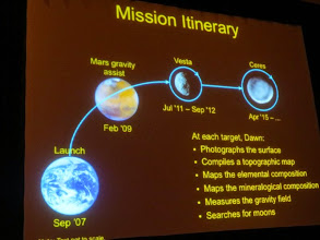 Photo: Great lecture by JPL's Marc Rayman about the DAWN ion propulsion craft mission, which has studied the asteroid Vesta, and is next heading to Largest-Asteroid-slash-Dwarf-Planet Ceres.