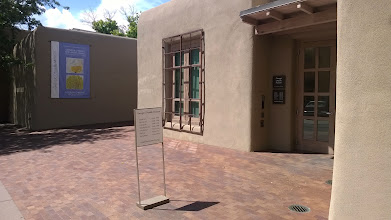 Photo: August 10-As the storm rolled in, I went about my way to Santa Fe and the Georgia O'Keeffe Museum.  Though not large in scope, I thought it offered a great overview of her work and philosophy.  I enjoyed it.