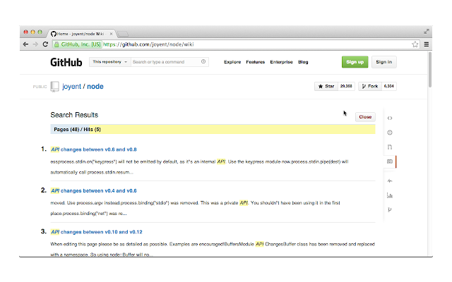 Wiki Search for GitHub