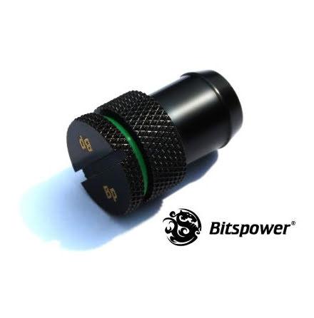 """Bitspower blindnippel for 1/2""""ID slange, Matt Black"""