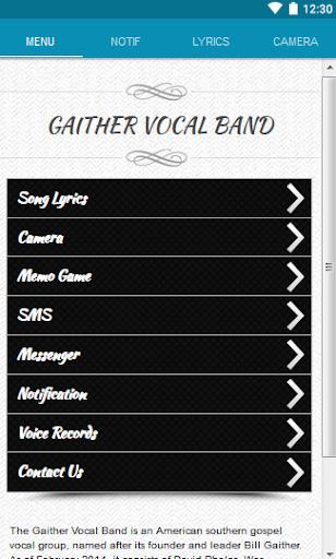Gaither Vocal Band Lyrics