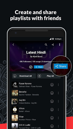 Wynk Music- New MP3 Hindi Songs Download HelloTune 3.9.1.0 screenshots 7