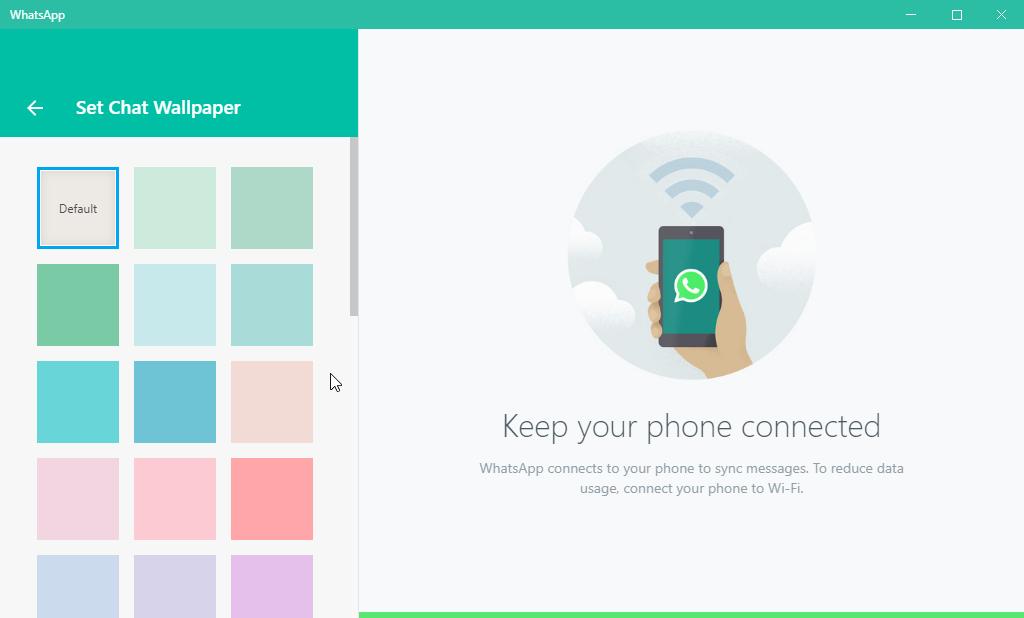 thumbapps.org WhatsApp portable, Settings > Set Chat Wallpaper