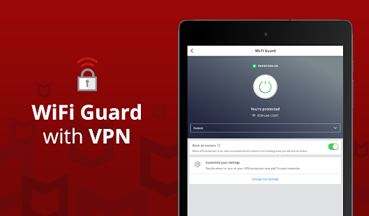 Mobile Security: VPN Proxy & Anti Theft Safe WiFi Screenshot