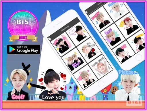 BTS Chat Sticker Editor 2.0 screenshots 1