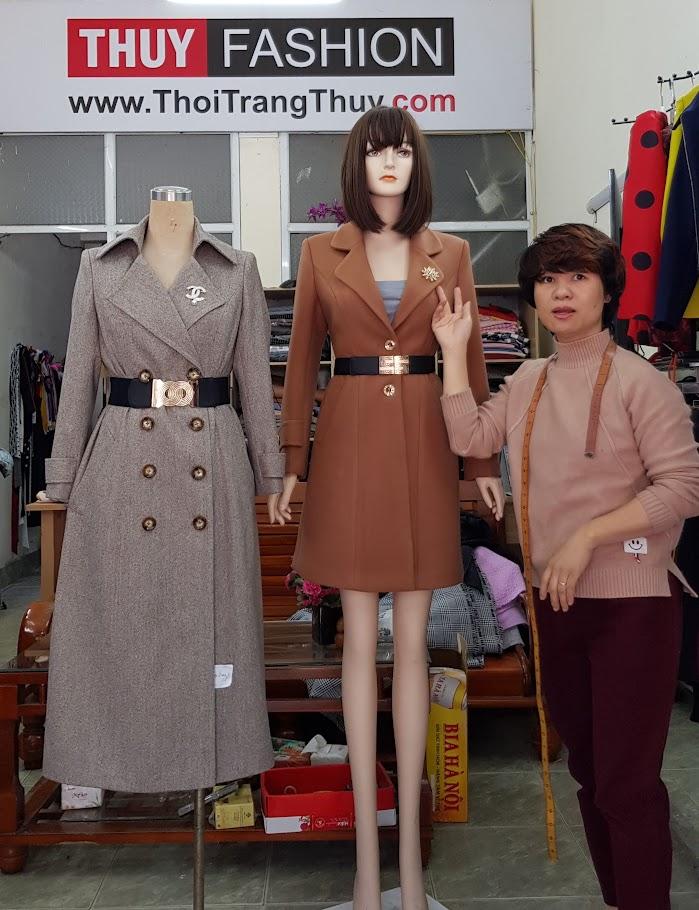 9 cách thăt dây lưng cho áo khoác dạ nữ dáng dài thời trang thuỷ hà nội