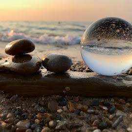 Beach Landscape by Liana Lputyan - Instagram & Mobile iPhone ( waves, goodvibes, beautifulbeach, beach, sunset, glassball, stones, glassballphotography, beachlandscape, indiadunes, wave, lakemichigan,  )