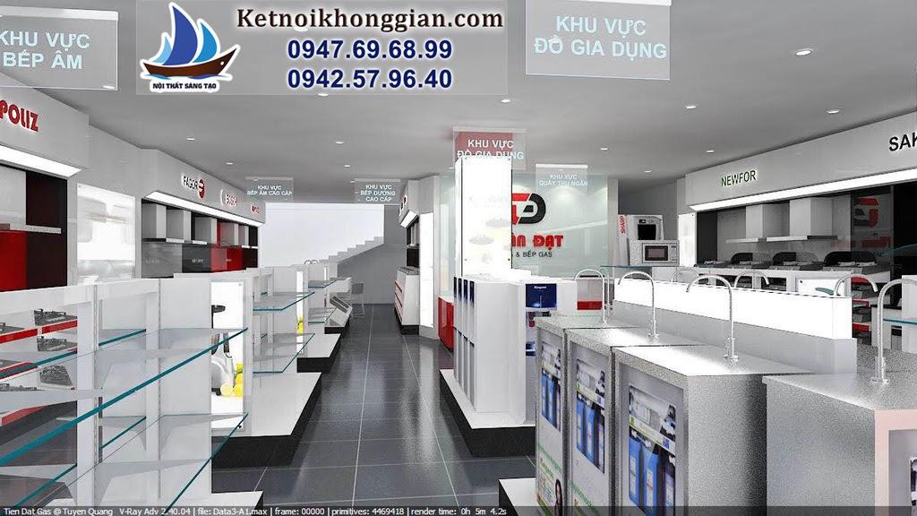 thiết kế cửa hàng thiết bị nhà bếp tuấn đạt tuyên quang